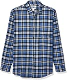 Amazon Essentials para hombre ajuste Regular manga larga Plaid camisa de franela