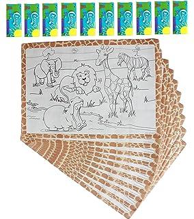 Amazon.com: 50 Kids Activity Placemat, Activity, Paper, Disposable ...