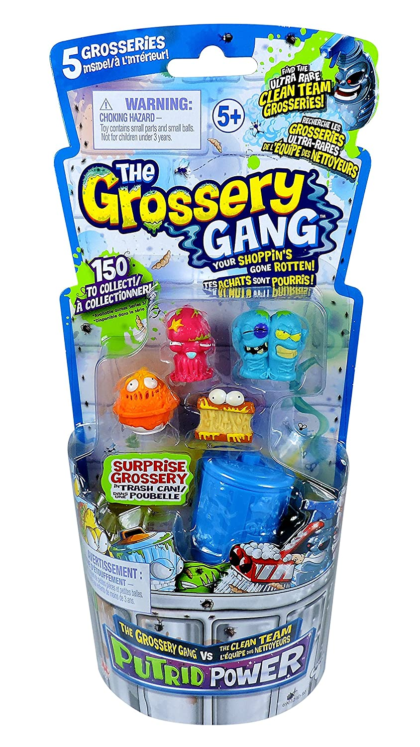 Grossery Gang 5 Pack Series 3 Putrid Power FLAIR ID69032