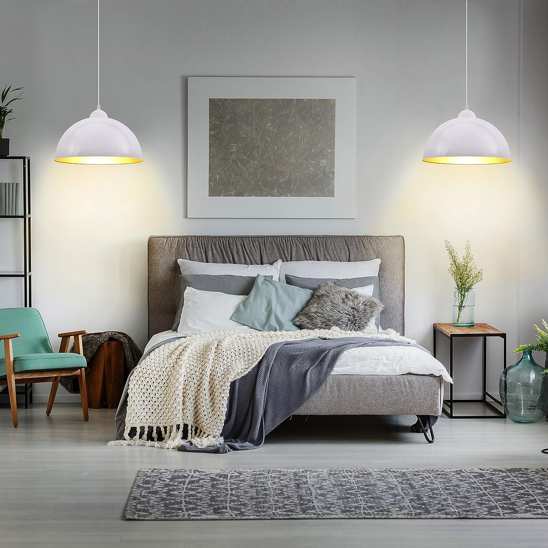 B.K.Licht Design 2x Industrielle Vintage LED Pendelleuchte ...