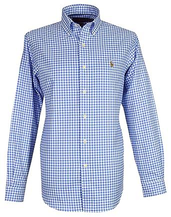 ba9f36e12 Ralph Lauren Men`s Casual Shirt - Blue Check (Medium)  Amazon.co.uk   Clothing