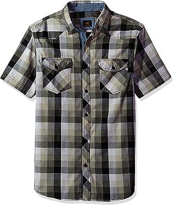 Camisa de cuadros Lee para Hombre de manga corta: Amazon.es: Ropa y accesorios