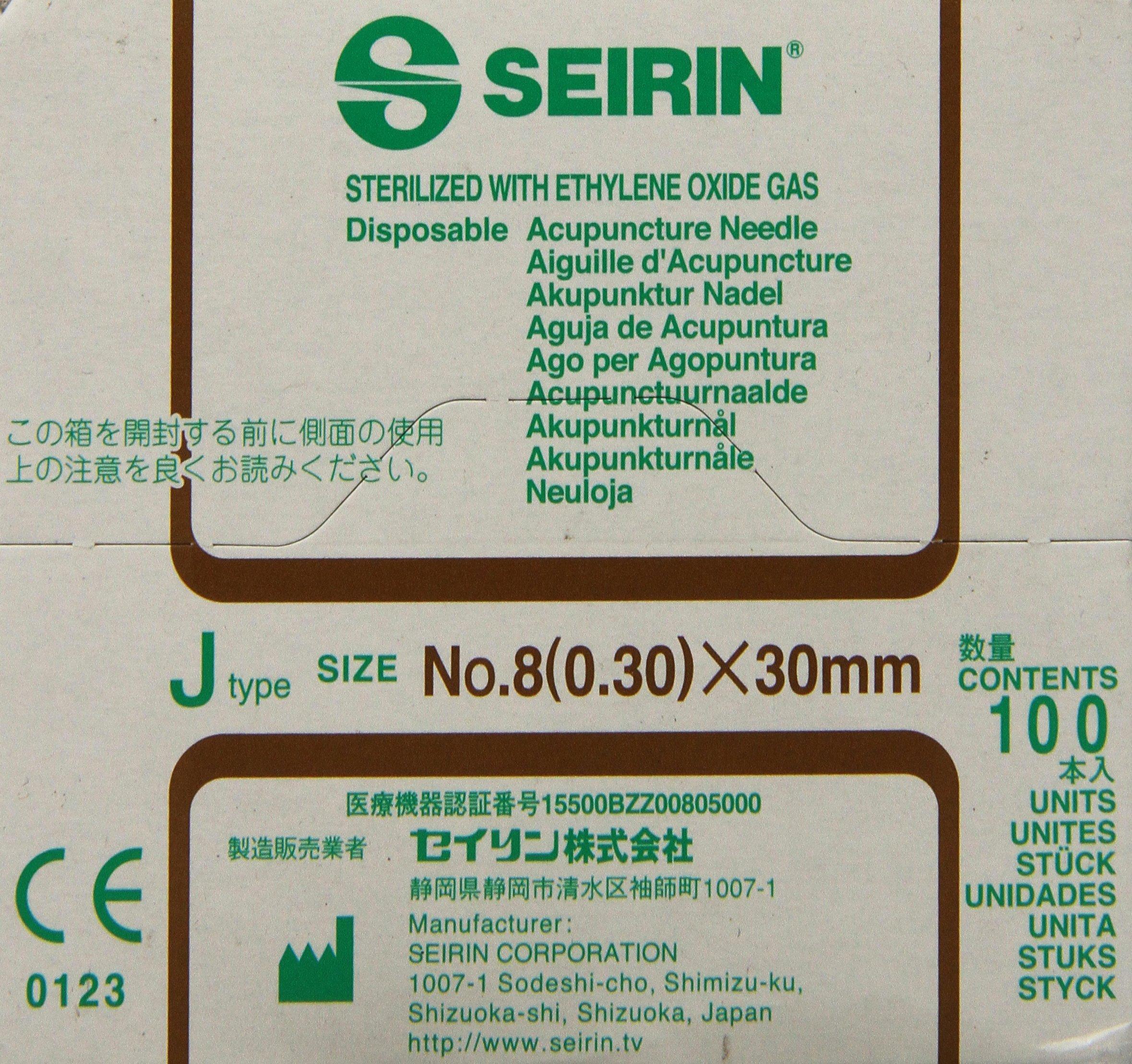 Seirin Accupuncture Needles 0.30mm x 30mm