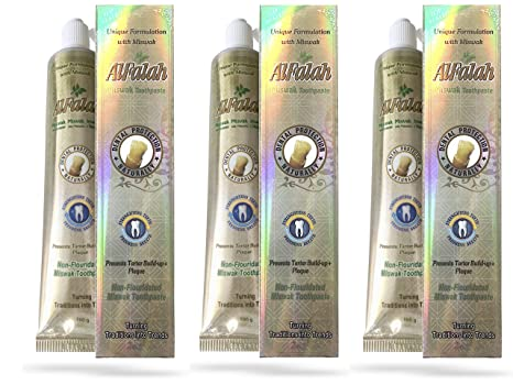 Pasta de dientes Miswak Siwak, con cristales de yeso naturales, sin aditivos de flúor