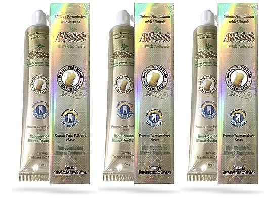 Pasta de dientes Miswak Siwak, con cristales de yeso naturales, sin aditivos de flúor, muy rico, 100 Gr, Vegano (100 Gr.): Amazon.es: Belleza