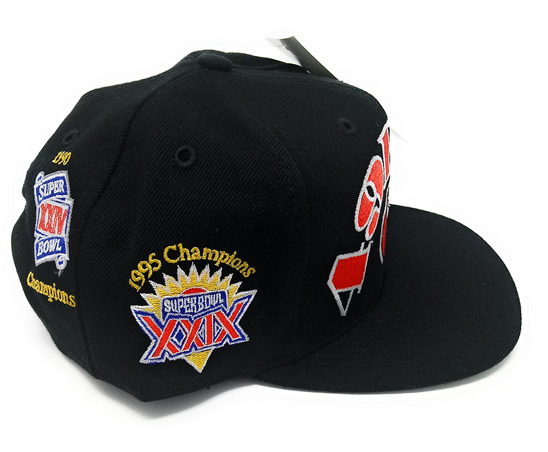e7492614e13aa Amazon.com  San Francisco 49ers Superbowl Patch Deadstock Vintage Snapback  Hat  Clothing