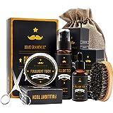 Beard Grooming Kit for Men/Dad/Husband Beard Care Gift Sets with Bearded Oil/Conditioner+Beard Wax/Balm+Beard Shampoo/Wash+Beard Comb 100% Natural Ingredients Softener for Moisturizing Growth