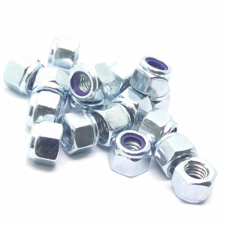 M6 (6mm) Nyloc Hex Nuts - Type-P - Steel (Pack of 50) Singularity Supplies