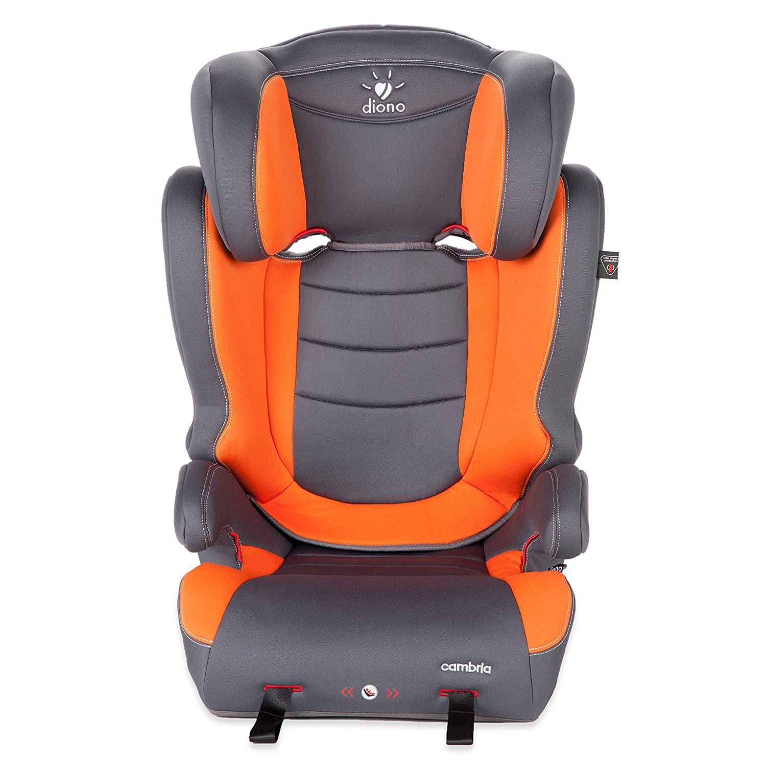 Diono Cambria High Back Booster Car Seat, Orange/Grey 31030