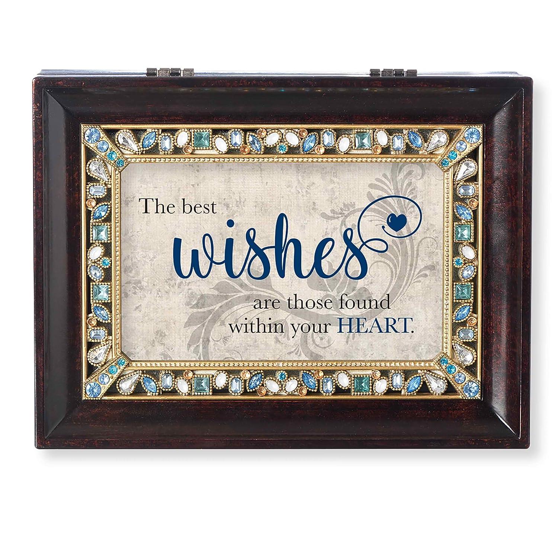 超安い ローマの受取人コレクション The Best The Wishes ジュエル付きオルゴール Wishes ブラウン B07DXGDSMZ ラージ B07DXGDSMZ, シカオイチョウ:cc42ebf6 --- svecha37.ru