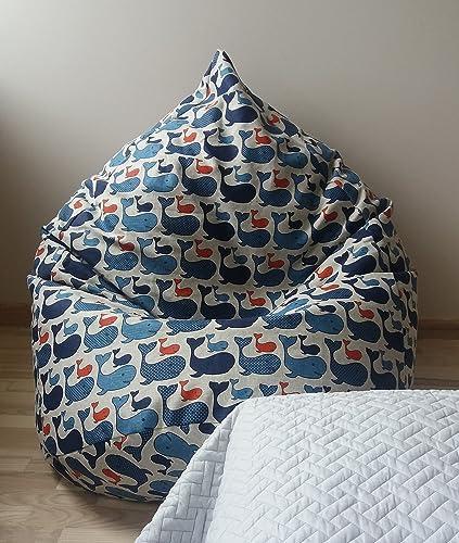 Stoffe Für Kinderzimmer | Sitzsack Leinen Bezug Blau Kinderzimmer Mobel Naturliche Stoffe