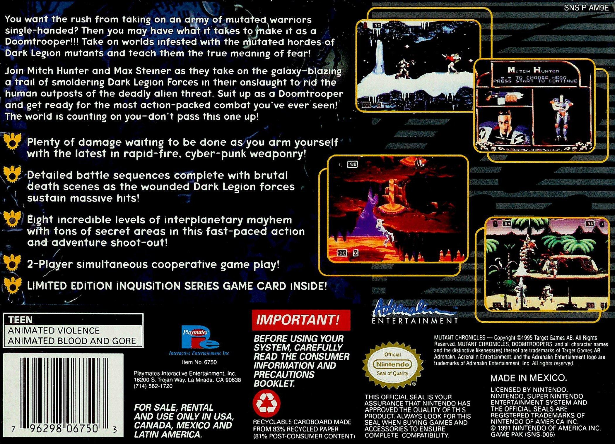 Amazon com: Doom Troopers: Mutant Chronicles: Video Games