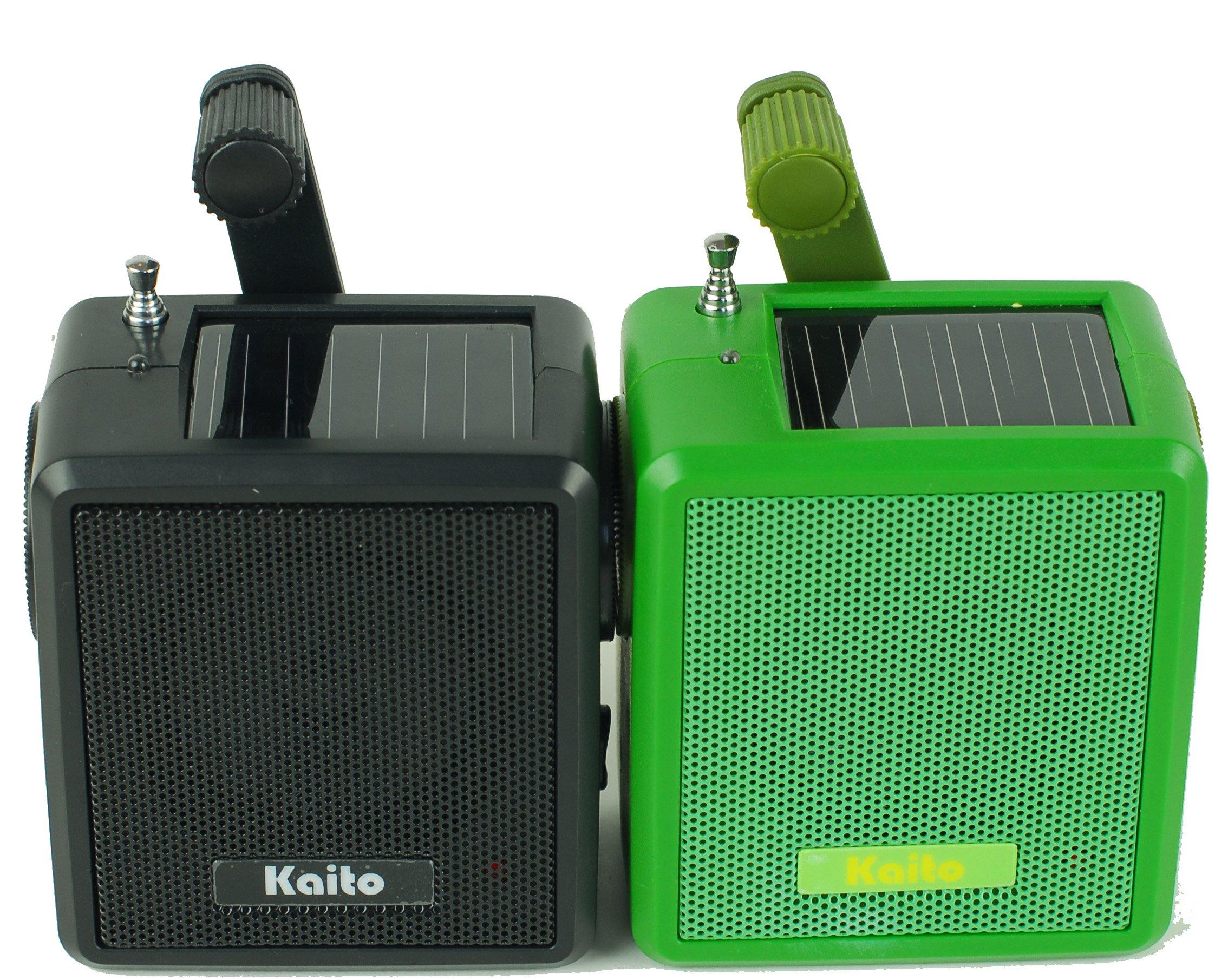 Kaito SB-1059 Mini Hand Crank AM/FM Weather Radio, Green