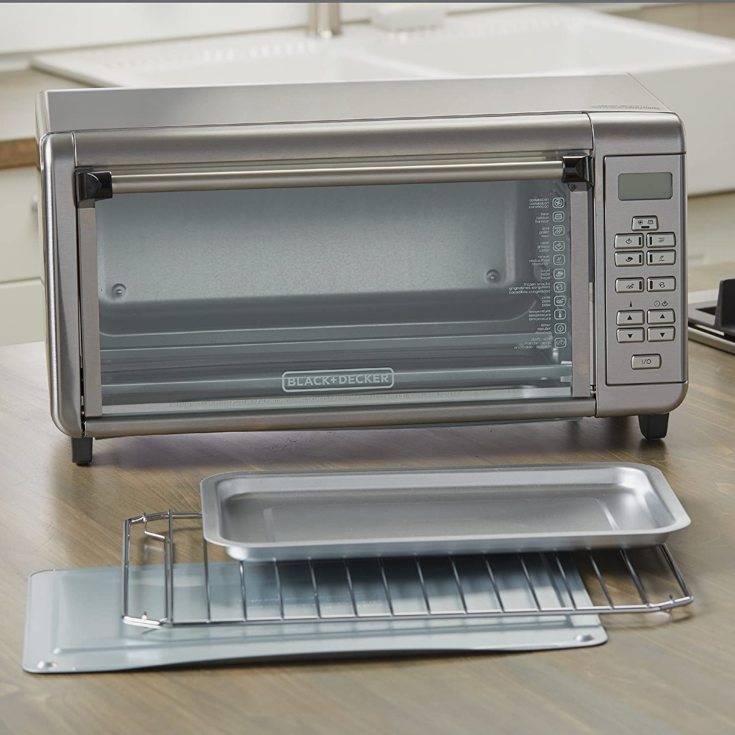 8-Slice BLACK+DECKER TO3290XSD TO3290XSBD Toaster Oven Stainless Steel