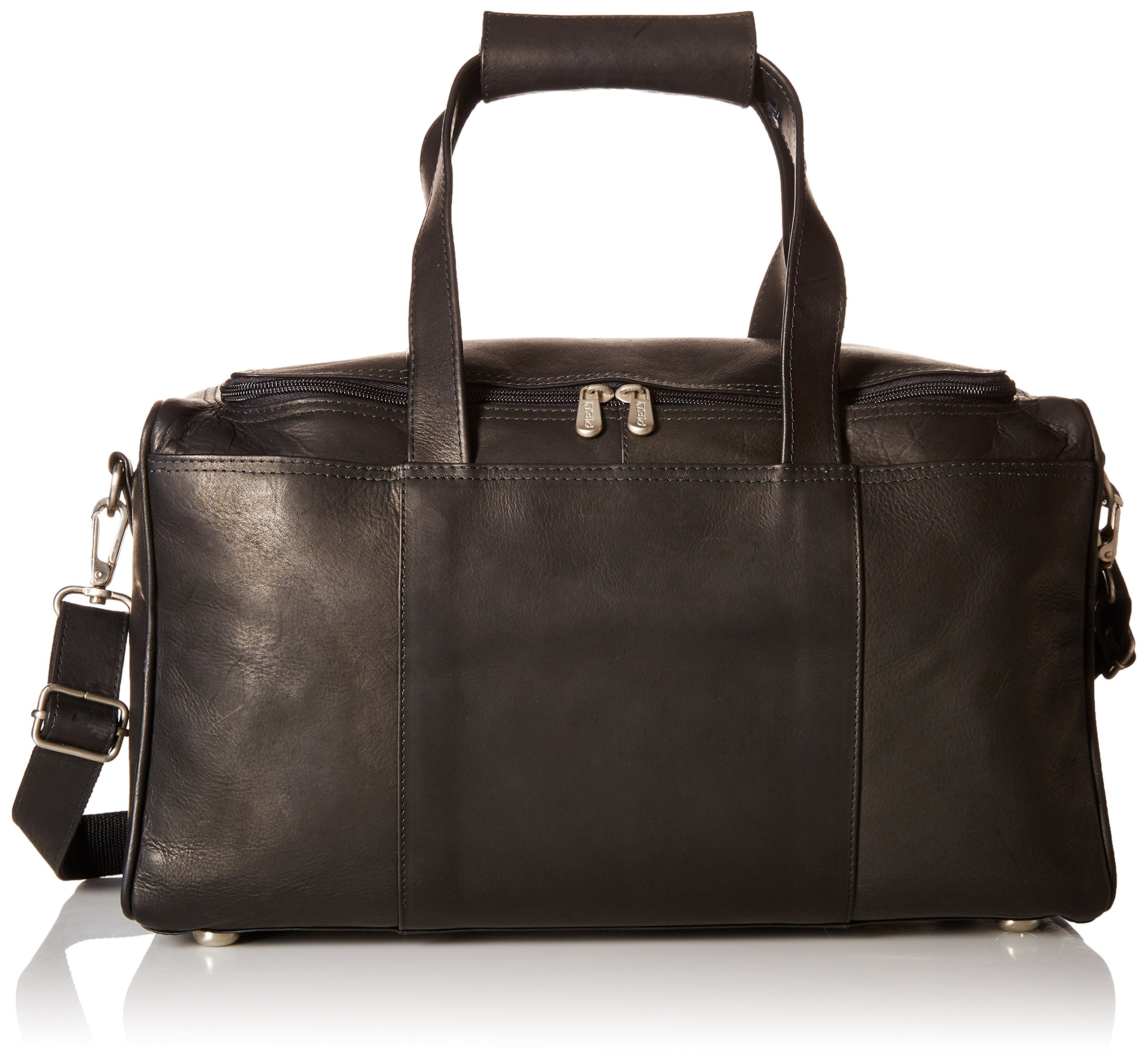 Piel Leather Traveler's Select X-Small Duffel Bag, Black, One Size by Piel Leather