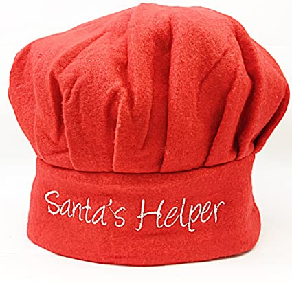 United Christmas Chef Adult Hat Novelty Fancy Dress Xmas Cook Hat Home, Furniture & Diy