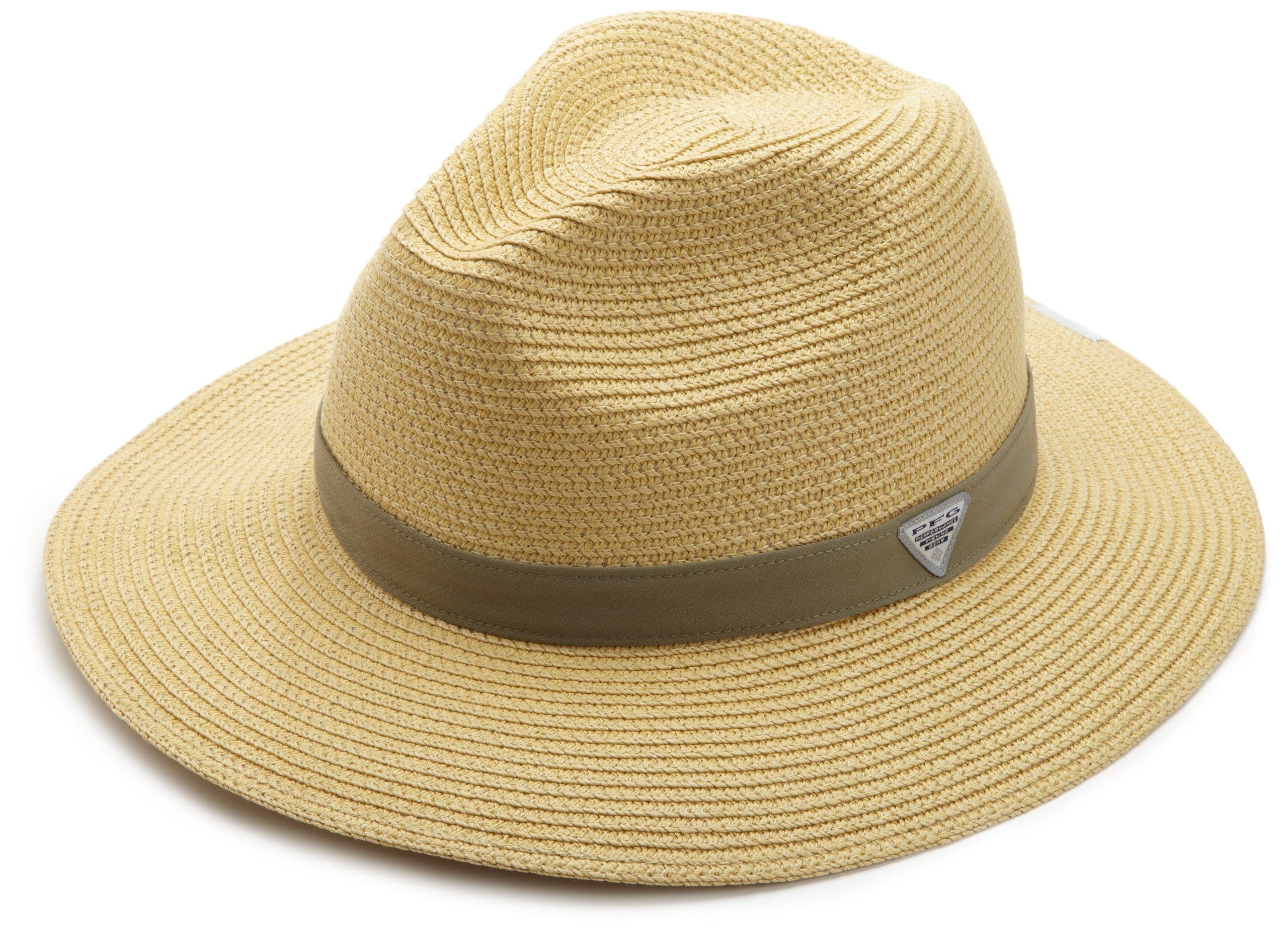 Columbia Bonehead Straw Hat, Natural, Sage, Large/X-Large
