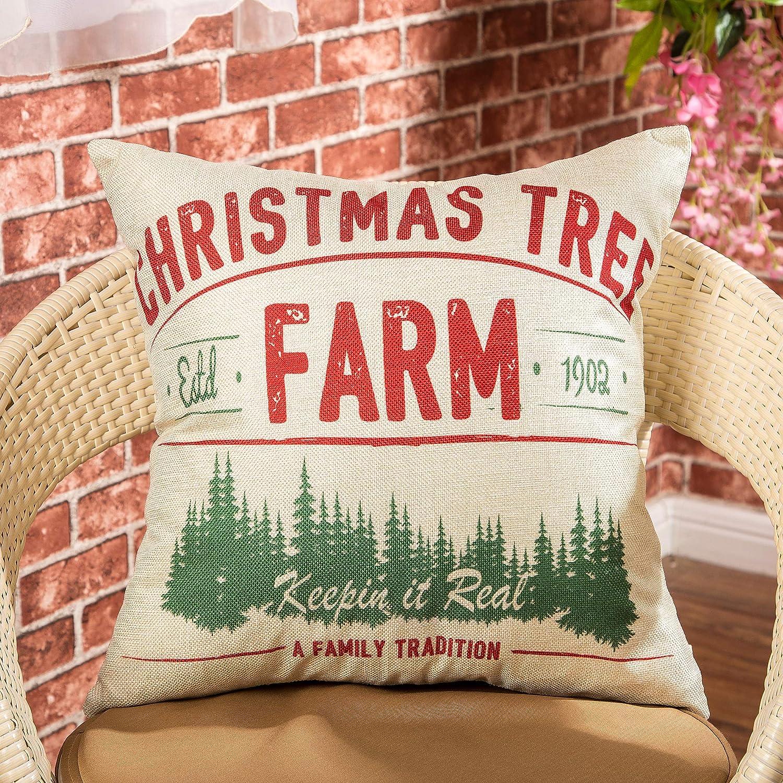 Amazon.com: Fjfz – árbol de Navidad rústico estilo granja ...