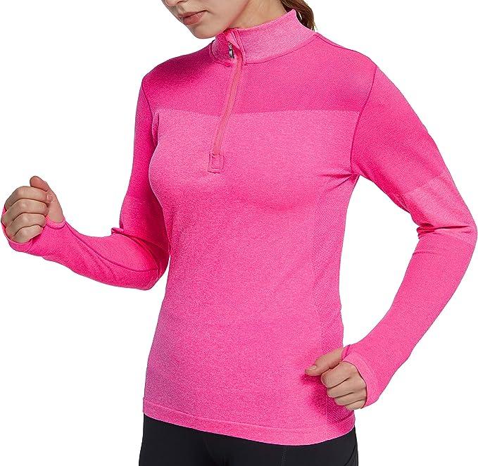 Amazon.com: slimour - Camisas de manga larga para mujer con ...