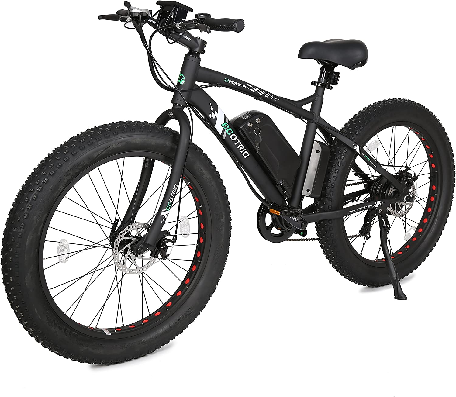 "best electric bike under 1000: ECOTRIC 26"" Fat Bike Tire Electric Bicycle"