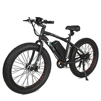 """26 """"grasa bicicleta neumático rueda Hombres Playa de nieve montaña bicicleta eléctrica 500 W"""