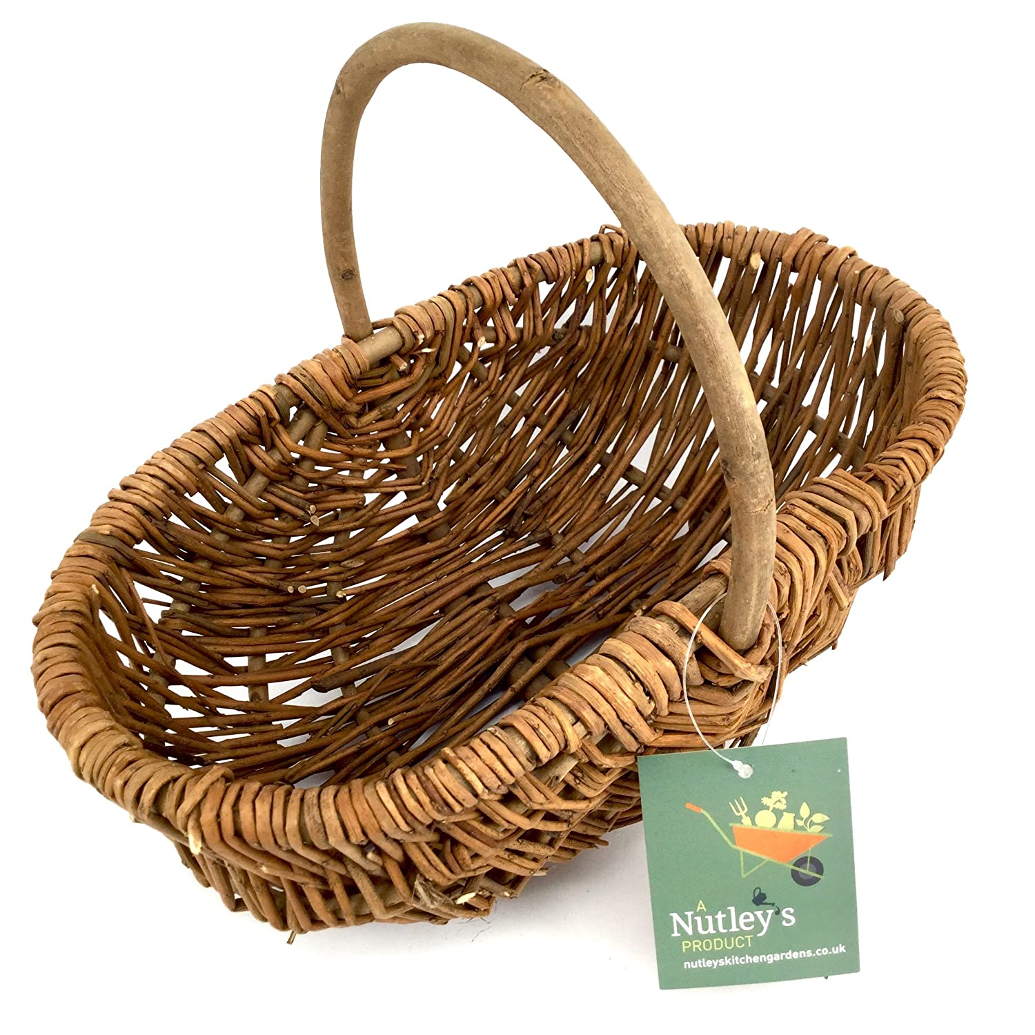 Amazon.com: Nutley\'s Small Rustic Willow Vegetable Trug Basket ...