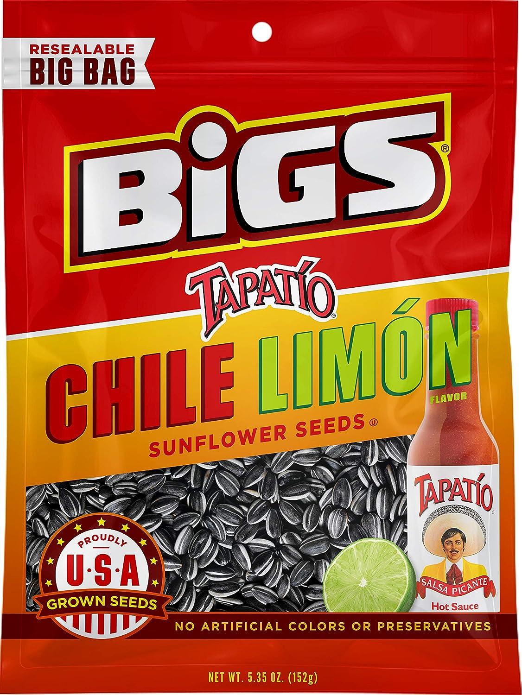d4ca7fa0d6c0 Amazon.com   BIGS Tapatío Chile Limón Sunflower Seeds