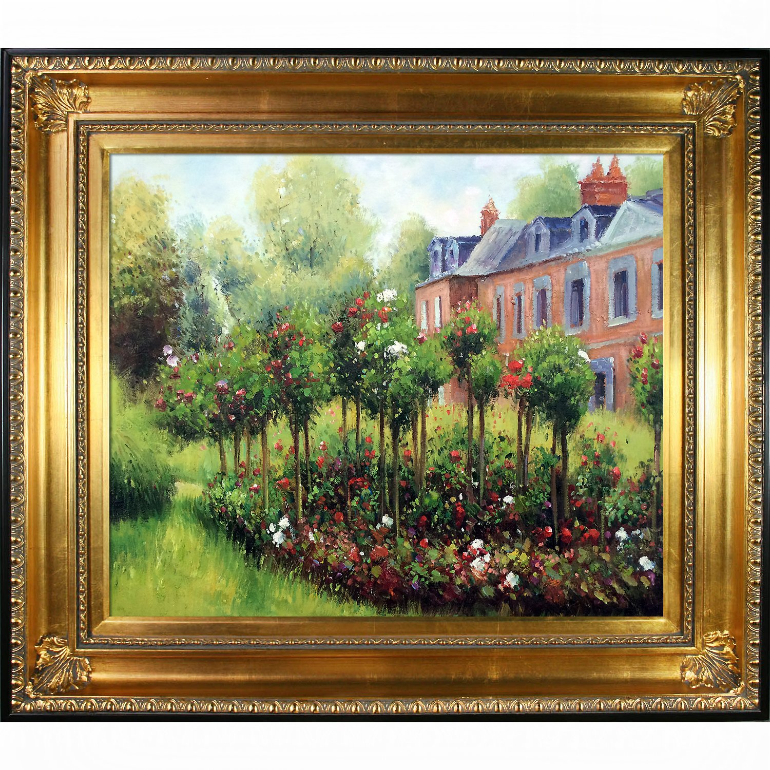 Gold Finish with Black Edge 1874 by Renoir with Regency Gold Frame overstockArt The Garden at Fontenay