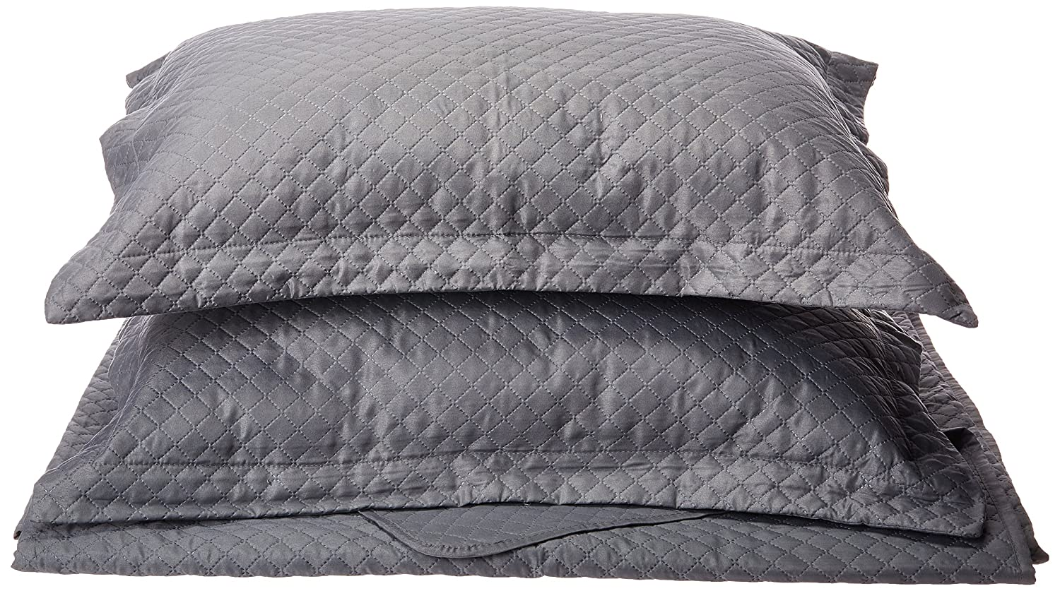 Elegant Comfort Luxury Lightweight 2-Piece Bedspread Coverlet Square Design Quilt Set with Shams Full//Queen Wrinkle /& Fade Resistant All Season White 1RW-Coverlet Set-Plaid-Queen White Hypoallergenic