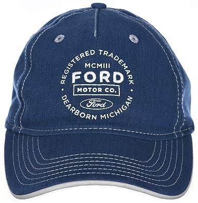 H3 - Gorra Ajustable para Ford Motor Company MCMIII, Color Azul ...