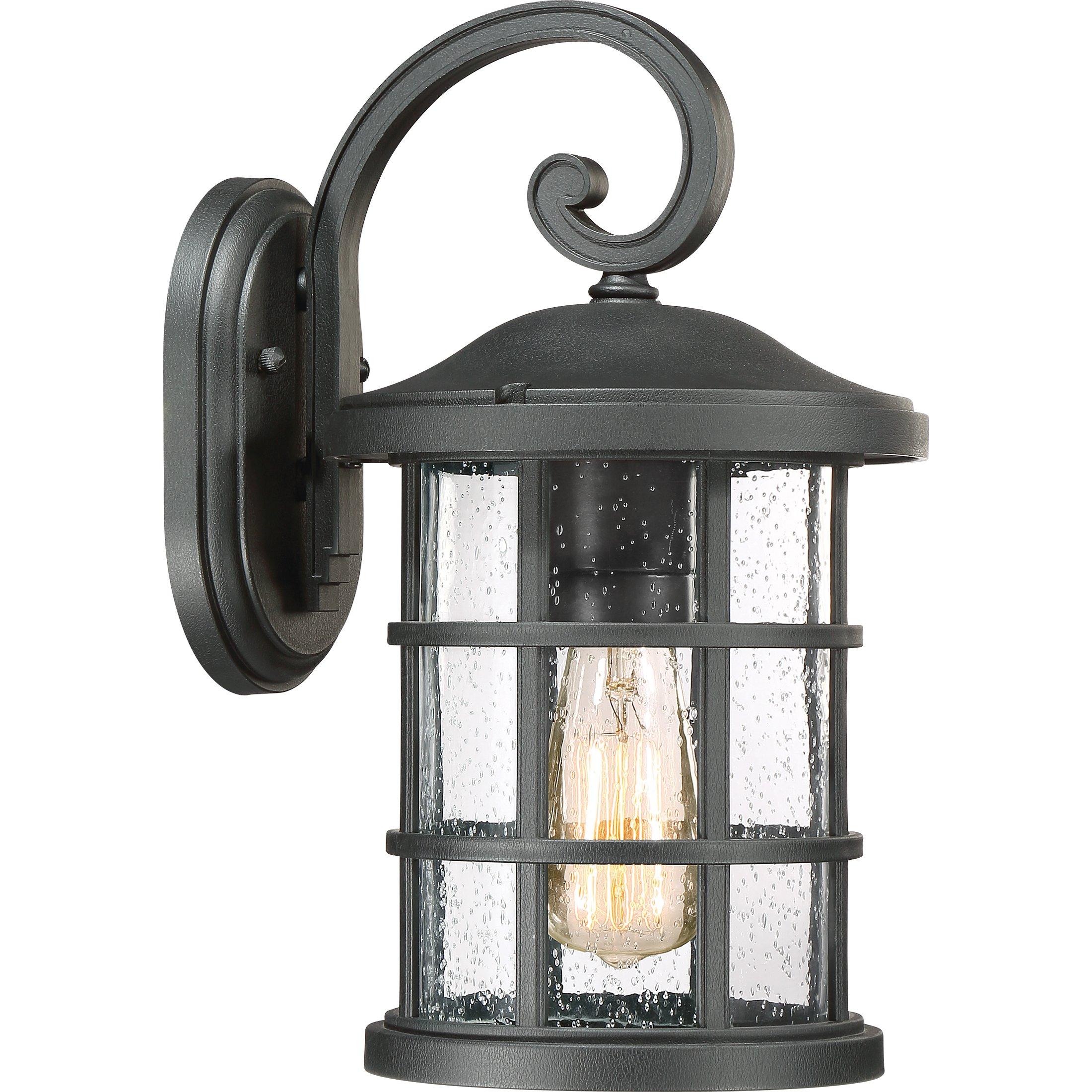 Quoizel One Light Outdoor Wall Lantern CSE8408EK, Medium, Earth Black