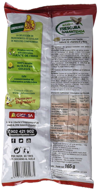 Pipas G Grefusa - Pipas Tijuana, 165 g - [Pack de 11]: Amazon.es: Alimentación y bebidas