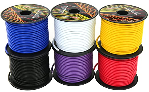 14 gauge 6 roll cca primary wire combo 100 ft per roll, 600 feet14 gauge 6 roll cca primary wire combo 100 ft per roll, 600 feet