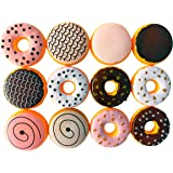 12 Piece Assorted Fake Donuts Pretend Play Toy Food Set for Kids (1 Dozen)