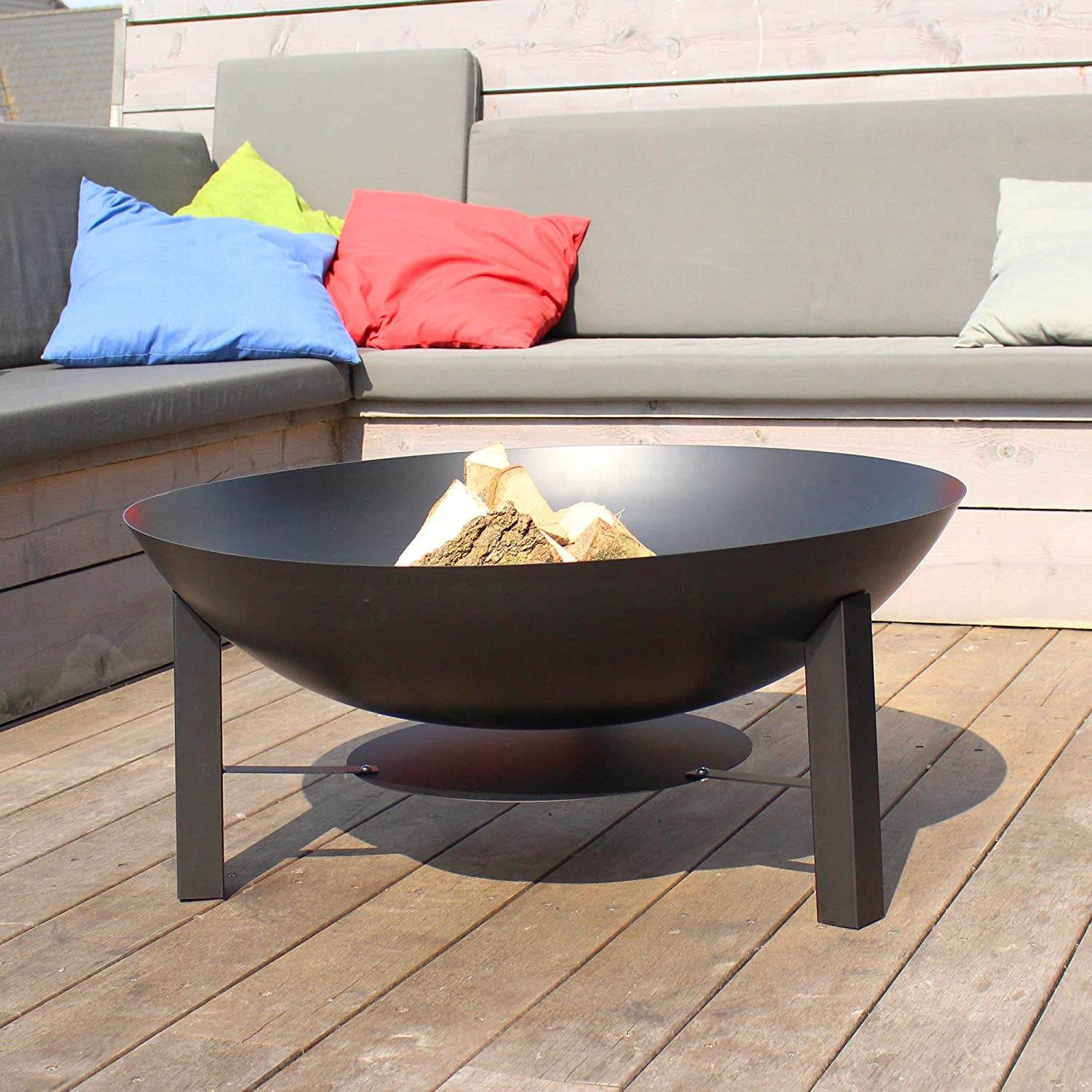 firepit with /Ø100cm diameter and heat resistant finish Free Shipping Firebowl Giant