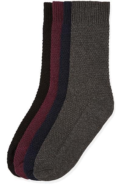 FIND Calcetines con Textura para Hombre, Pack de 4: Amazon.es: Ropa y accesorios