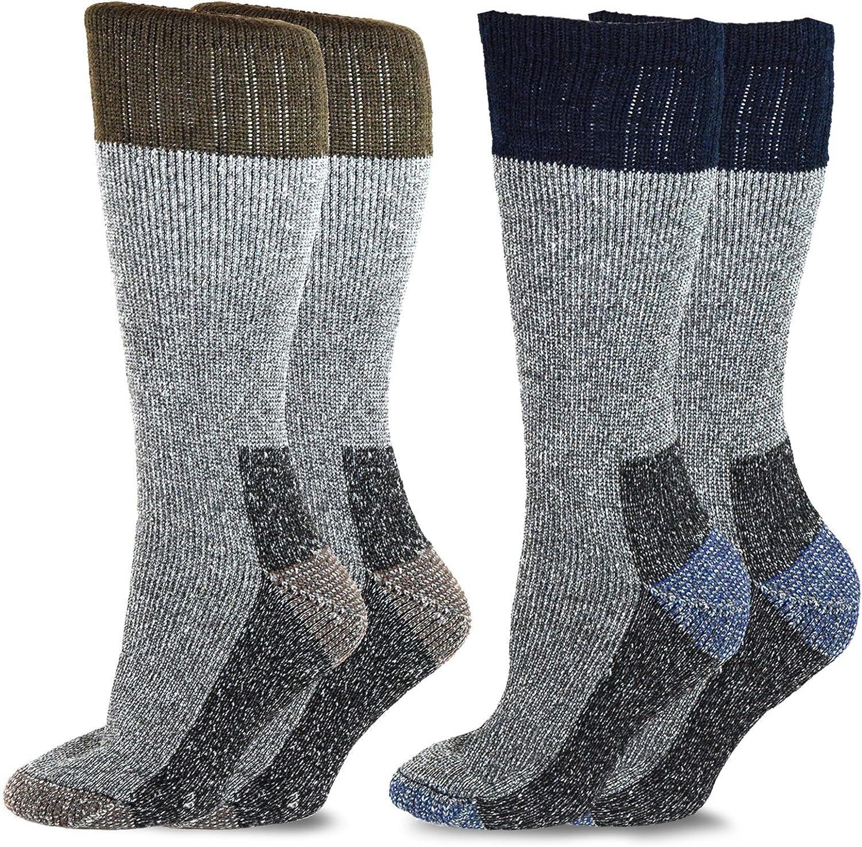 TeeHee Heavyweight Outdoor Wool Thermal Boot Socks 2-Pack