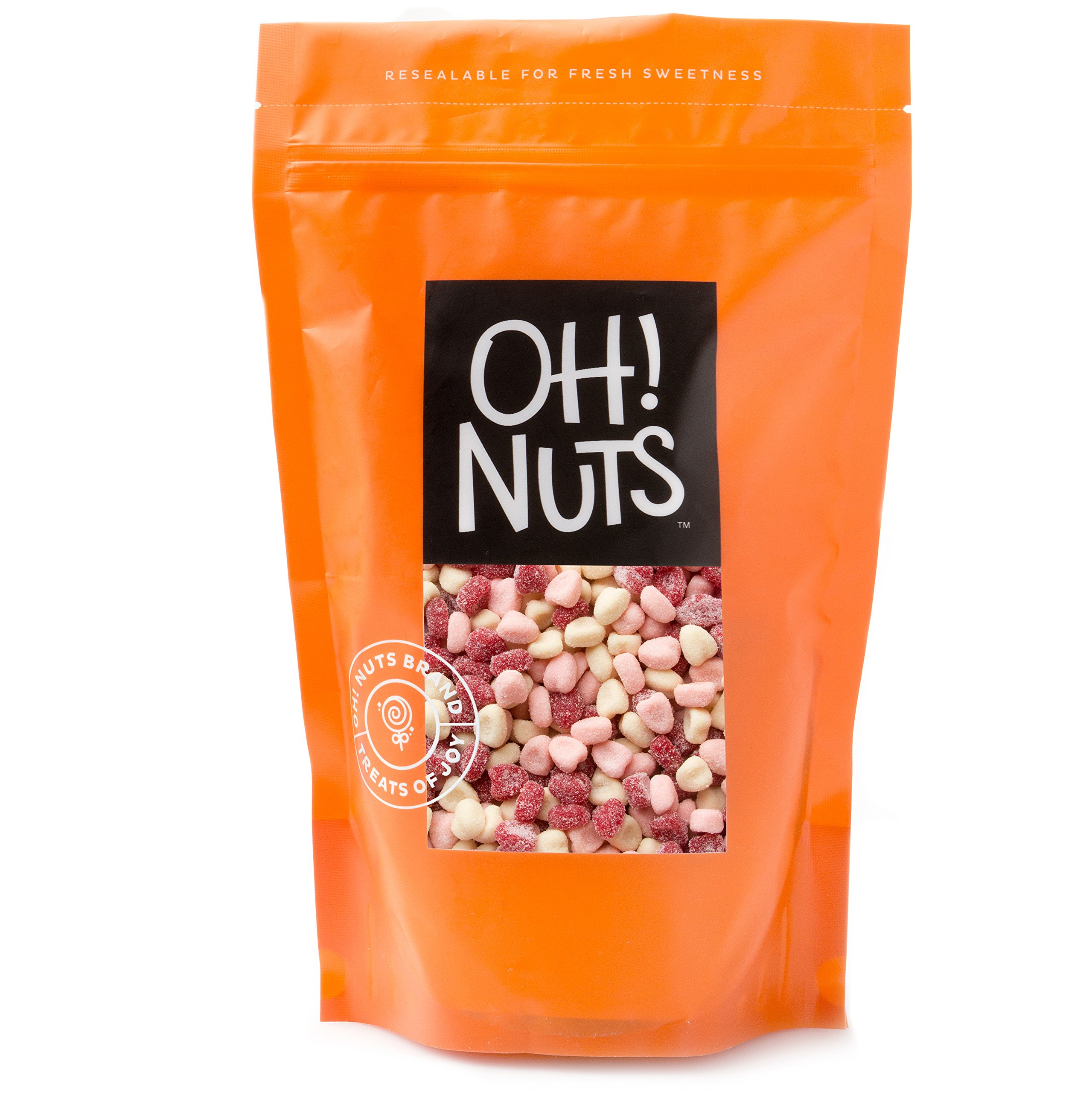 Valentines Day Jelly Petite Sour Hearts Candy 2 Pound Bag Love Belly Treats - Oh! Nuts