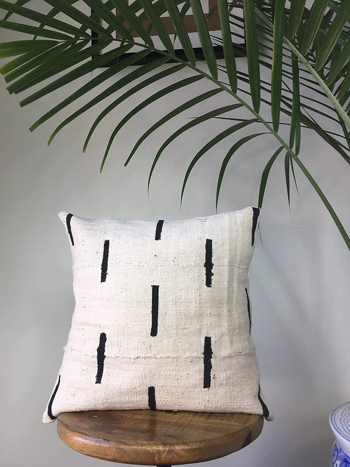 Dash Line African Mudcloth Pillow Cover Handmade