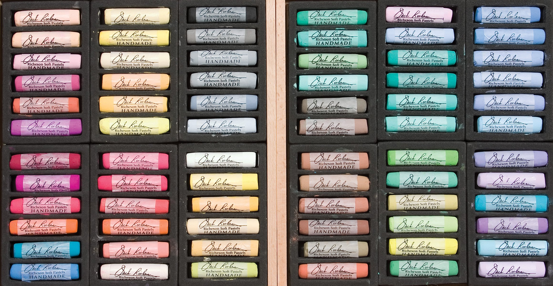 Jack Richeson 427325 Signature Assorted Handmade Soft Pastels (Set of 72)