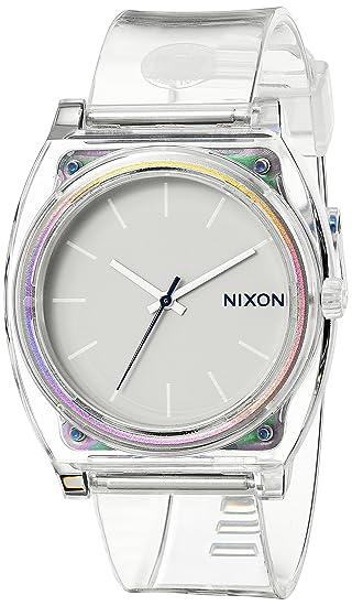 Nixon A1191779-00 - Reloj de cuarzo para mujer, con correa de plástico, color blanco: Nixon: Amazon.es: Relojes