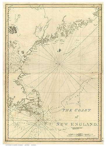 Map Of Usa 1776.Amazon Com Coast Of New England 1776 Map Revolutionary War Survey