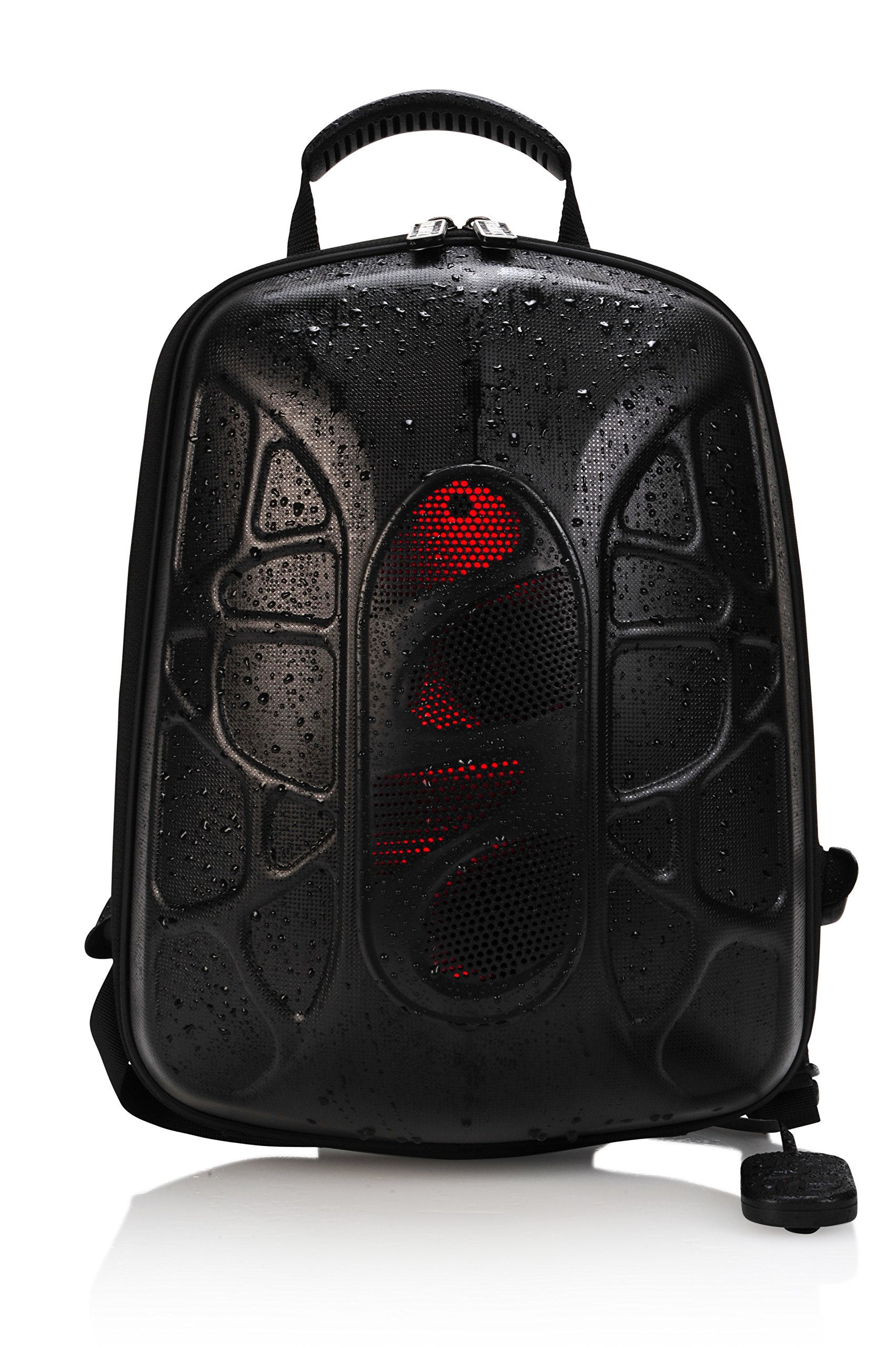TRAKK SHELL Hiking Backpack with Waterproof Speaker - Lightweight Max-Bass Waterproof Shockproof Dustproof Stain Resistant Audio Backpack with LED and Controller