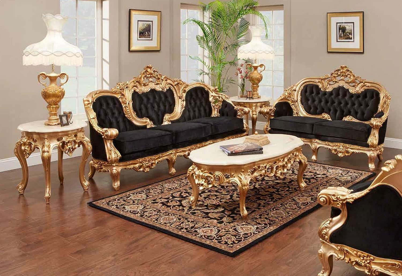 Amazon.com: Odette French Victorian Sofa Set: Furniture & Decor