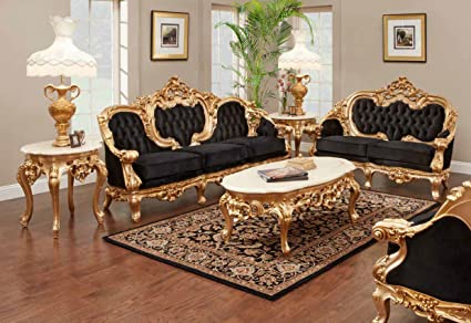 Fine Amazon Com Odette French Victorian Sofa Set Kitchen Dining Evergreenethics Interior Chair Design Evergreenethicsorg