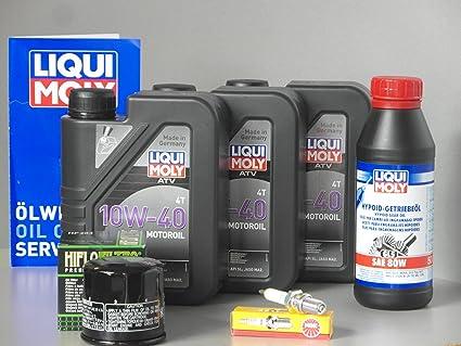 Yamaha YFM 350 Grizzly Mantenimiento y Inspección Juego aceite de aceite Bujía Quad ATV: Amazon.es: Coche y moto