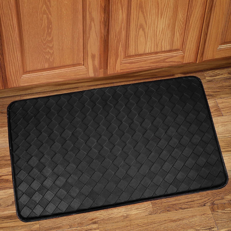 "Amazon.com: Sweet Home Collection Memory Foam Anti Fatigue Kitchen Floor Mat Rug, 18"" x 30"", Diamond Black: Kitchen & Dining"