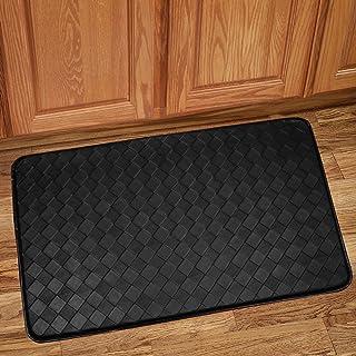 "Sweet Home Collection Memory Foam Anti Fatigue Kitchen Floor Mat Rug, 18"" x 30"", Diamond Black"