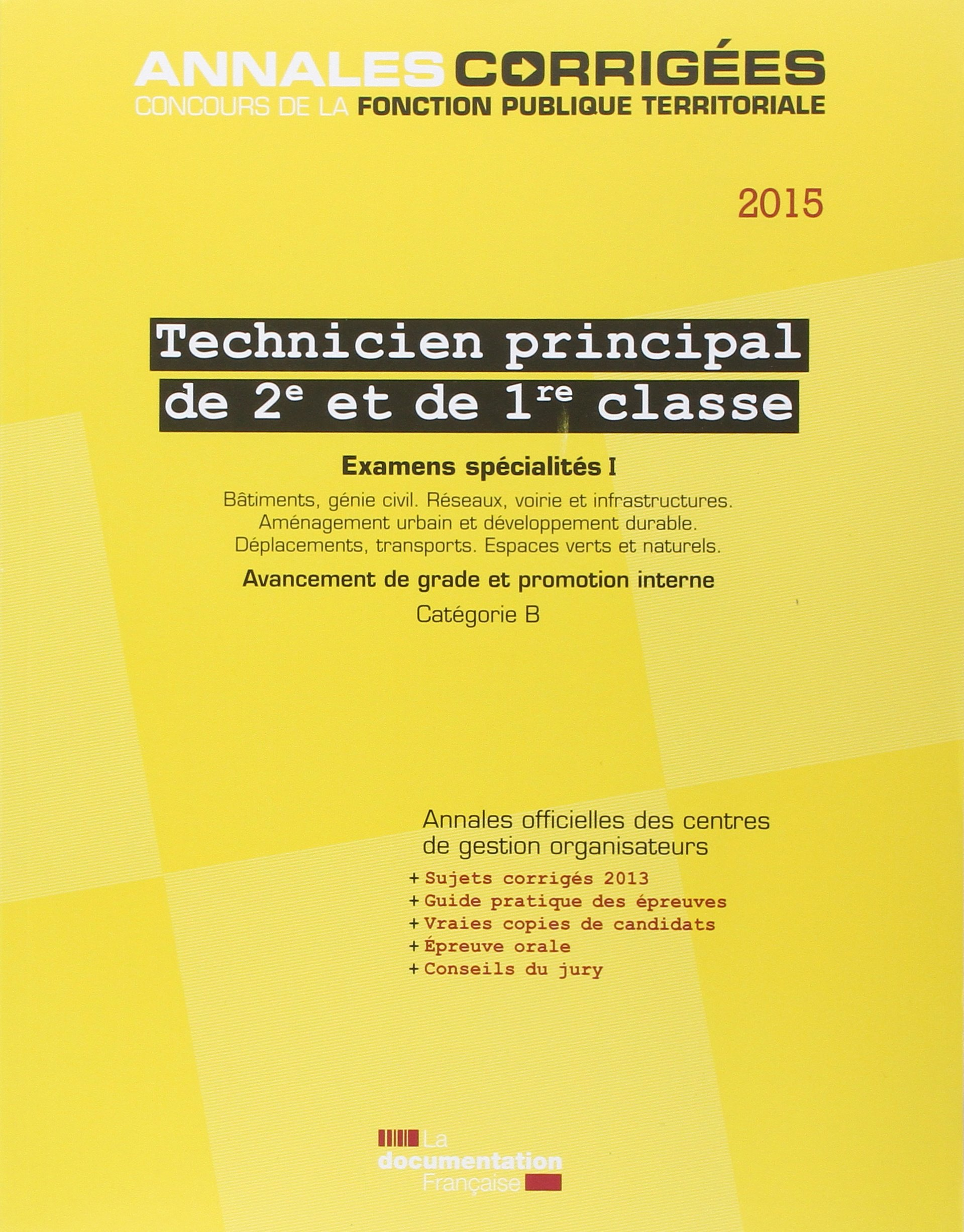 f9317fa7104 Amazon.fr - Technicien principal 2e et 1re classe   Examens spécialités I  2015 - CIG petite couronne - Livres