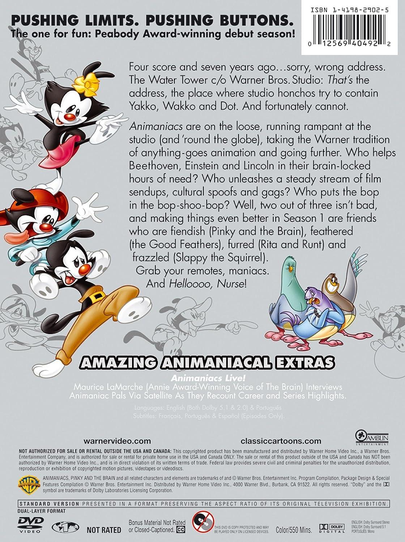 Amazon com: Animaniacs, Vol  1: Rob Paulsen, Jess Harnell